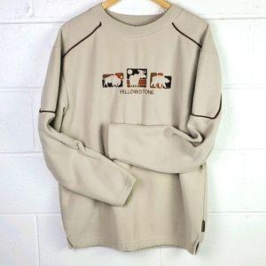 Vintage Yellowstone Crew Neck Soft Sweatshirt L